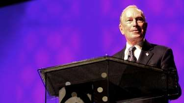 Michael Bloomberg speaks at the Christian Cultural Center
