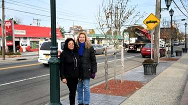 Uniondale civic leaders Pearl Jacobs, left, and Heidi