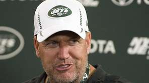 Jets head coach Rex Ryan during a press