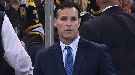 Rangers head coach David Quinn looks on during