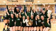 The Seaford girls volleyball team defeated Bayport-Blue Point,