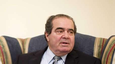 Supreme Court Justice Antonin Scalia is interviewed by