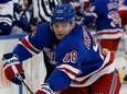 Lias Andersson of the Rangers plays the puck