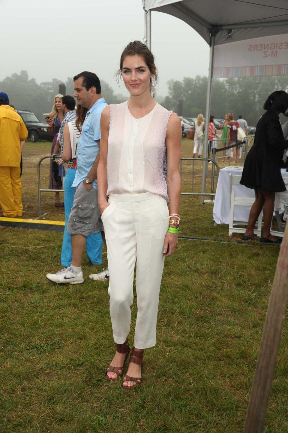 Model Hilary Rhoda attends Super Saturday 15 to