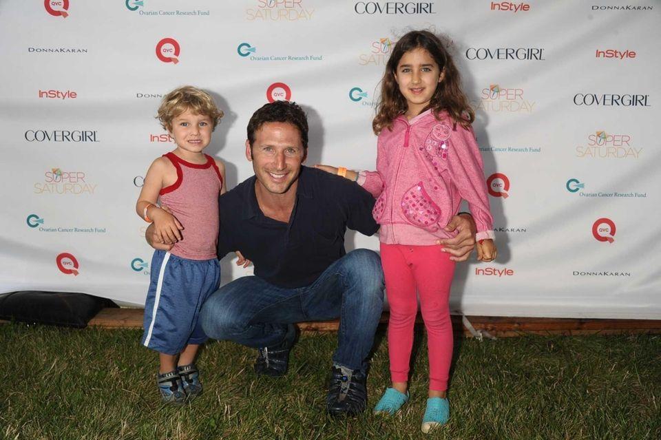 Actor Mark Feuerstein and children attend Super Saturday