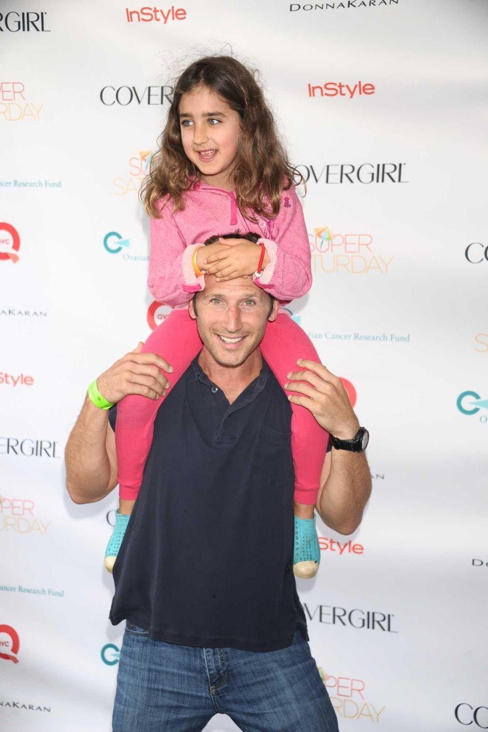 Actor Mark Feurersteinand daughter Lila attend Super Saturday