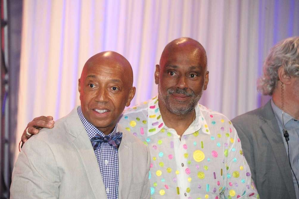 Russell Simmons and brother Danny Simmons attend Russell