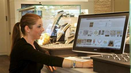 Paige Chernick, social media coordinator at London Jewelers,