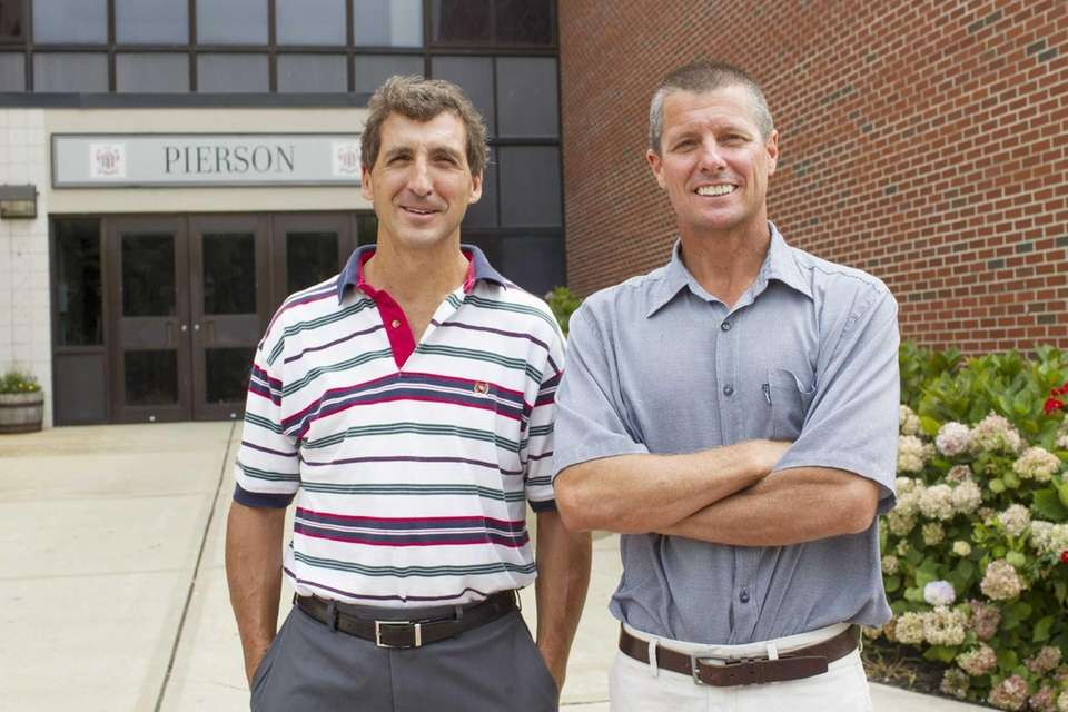 Pierson High School Superintendent John Gratto, left, and