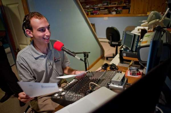 James Brierton broadcasts on SmithtownRadio.com from a studio
