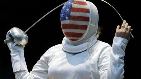 USA's Courtney Hurley reacts during a women's individual