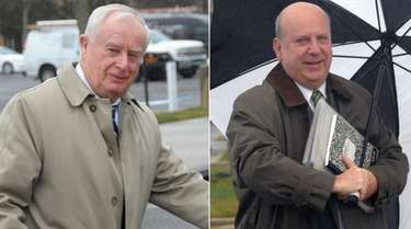 Former Suffolk County District Attorney Thomas Spota. left,