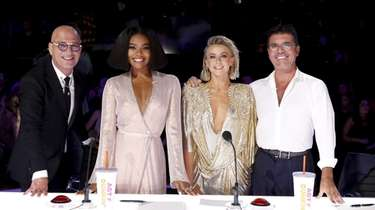 """America's Got Talent"" judges Howie Mandel, left, Gabrielle"