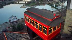 The Duquesne Incline, which dates to 1877, carries