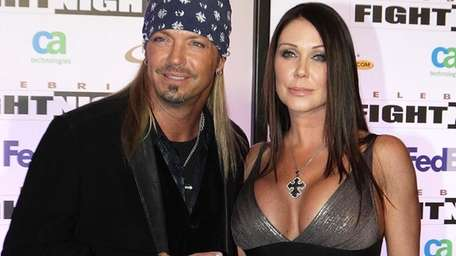 Singer Bret Michaels and Kristi Gibson at the