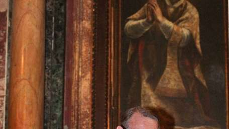 A portrait of St. Ignatius at the at