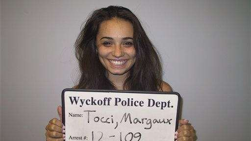 Margaux Tocci, 19, is seen in this arrest