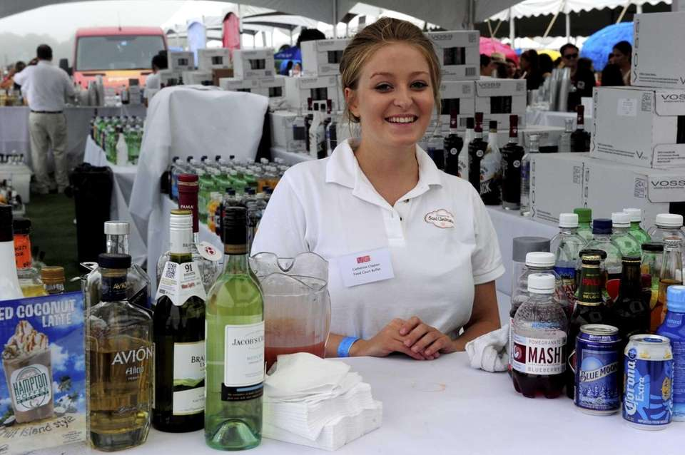 Catherine Clayton from Dublin, Ireland, manned the bar