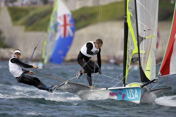 Erik Storck and Trevor Moore of U.S. sail