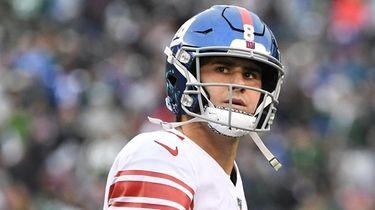 Giants quarterback Daniel Jones at MetLife Stadium on