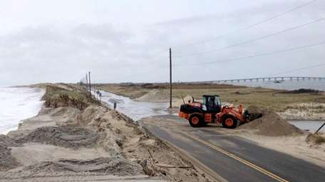 Southampton Town officials said high tide washed manmade