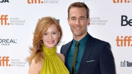 Kimberly and James Van Der Beek attend the