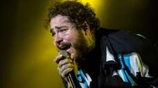 Post Malone performing at Lollapalooza Buenos Aires in