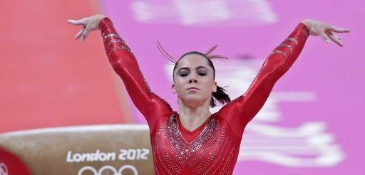 U.S. gymnast McKayla Maroney performs on the vault