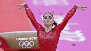 U.S. gymnast McKayla Maroney performs on the vault