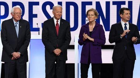 Sen. Bernie Sanders, former Vice President Joe Biden,