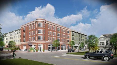 Artist's rendering of D&F Development Group's senior housing