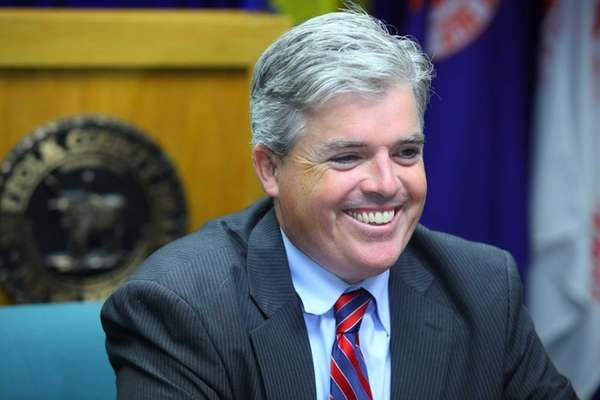 Suffolk County Executive Steve Bellone in Hauppauge. (July
