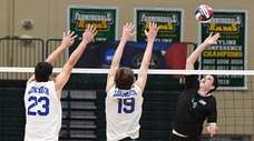 Westhampton's Ryan Barnett hits against Long Beach's Evan