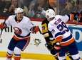 Islanders' Brock Nelson (29) celebrates with Anthony Beauvillier