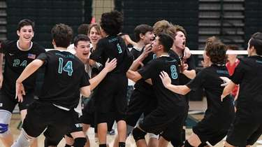 Westhampton players react after they win against Long