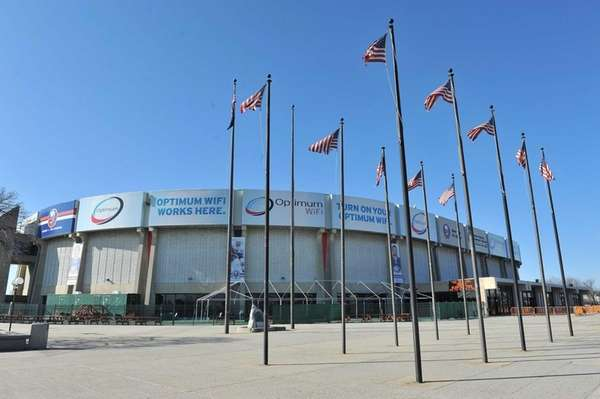 Shown here is the Nassau Veterans Memorial Coliseum.
