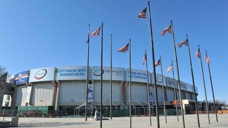 Shown here is the Nassau Veterans Memorial Coliseum.