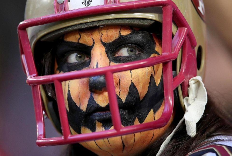 GLENDALE, ARIZONA - OCTOBER 31: Arizona Cardinals fan