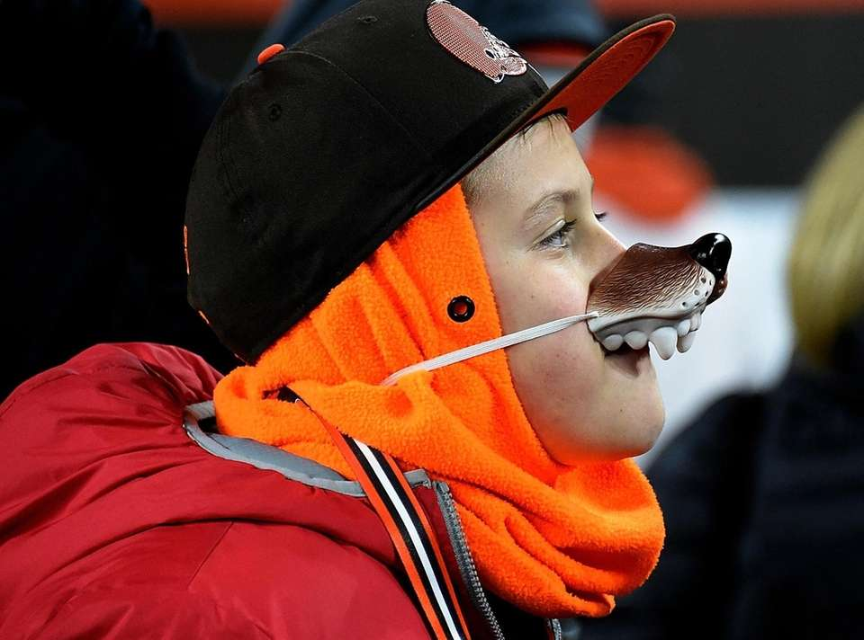 CLEVELAND, OHIO - NOVEMBER 14: A Cleveland Browns
