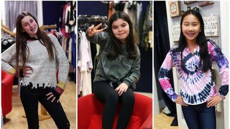 Sloane Silverstein, Olivia Chodosch and Molly Garfinkel model