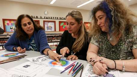 Cara Tuzzolino, left, of Merrick, Michelle Goga, of