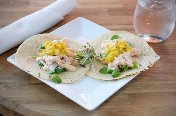 Soft corn tacos served at SWALLOW EAST in