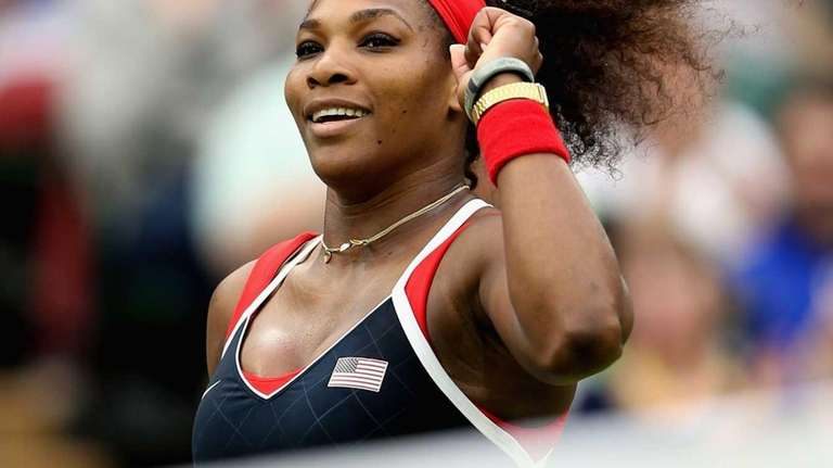 Serena Williams of the United States celebrates after