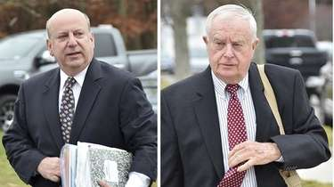 Former Suffolk DA top aide Christopher McPartland, left,