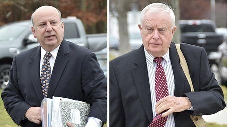 Former Suffolk DA top aide Christopher McPartland, left,