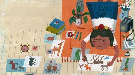 John Parra's illustration of a young Frida Kahlo