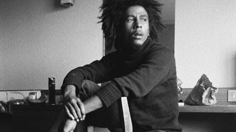 Bob Marley in a scene from
