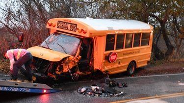 A Sag Harbor School District School Mini bus