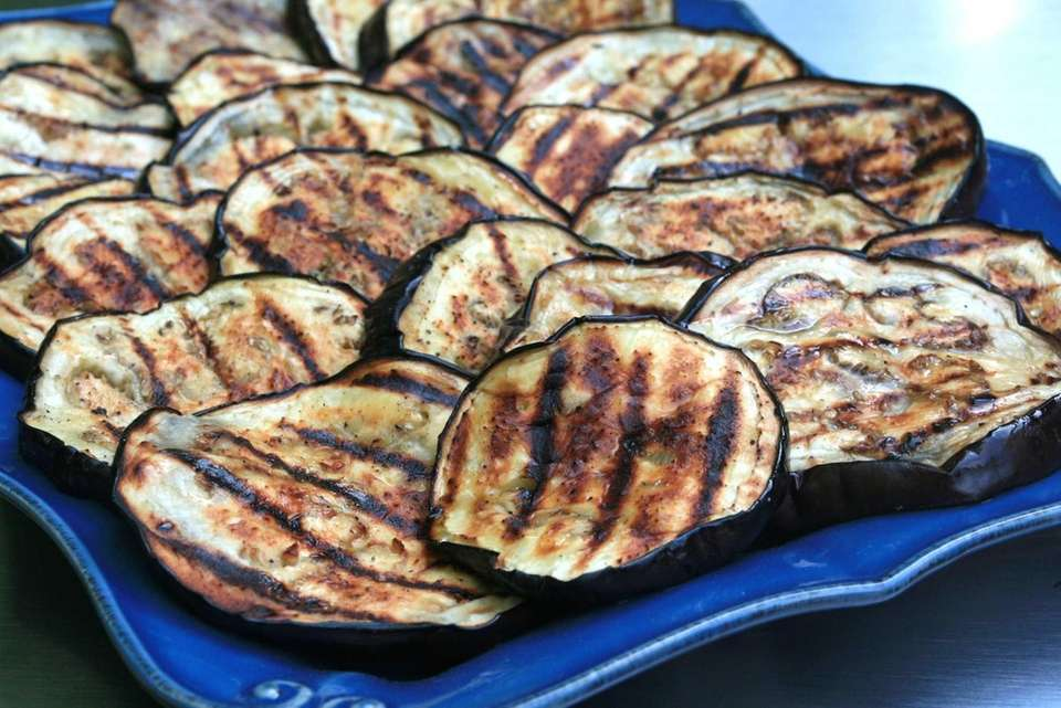 Simple grilled eggplant may be served as is,