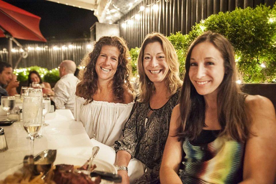 From left, friends Joanne Kellner of Woodbury, Lori